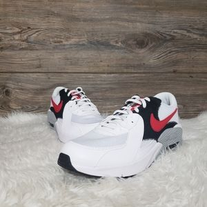 New Nike Air Max Excee White Red Sneakers